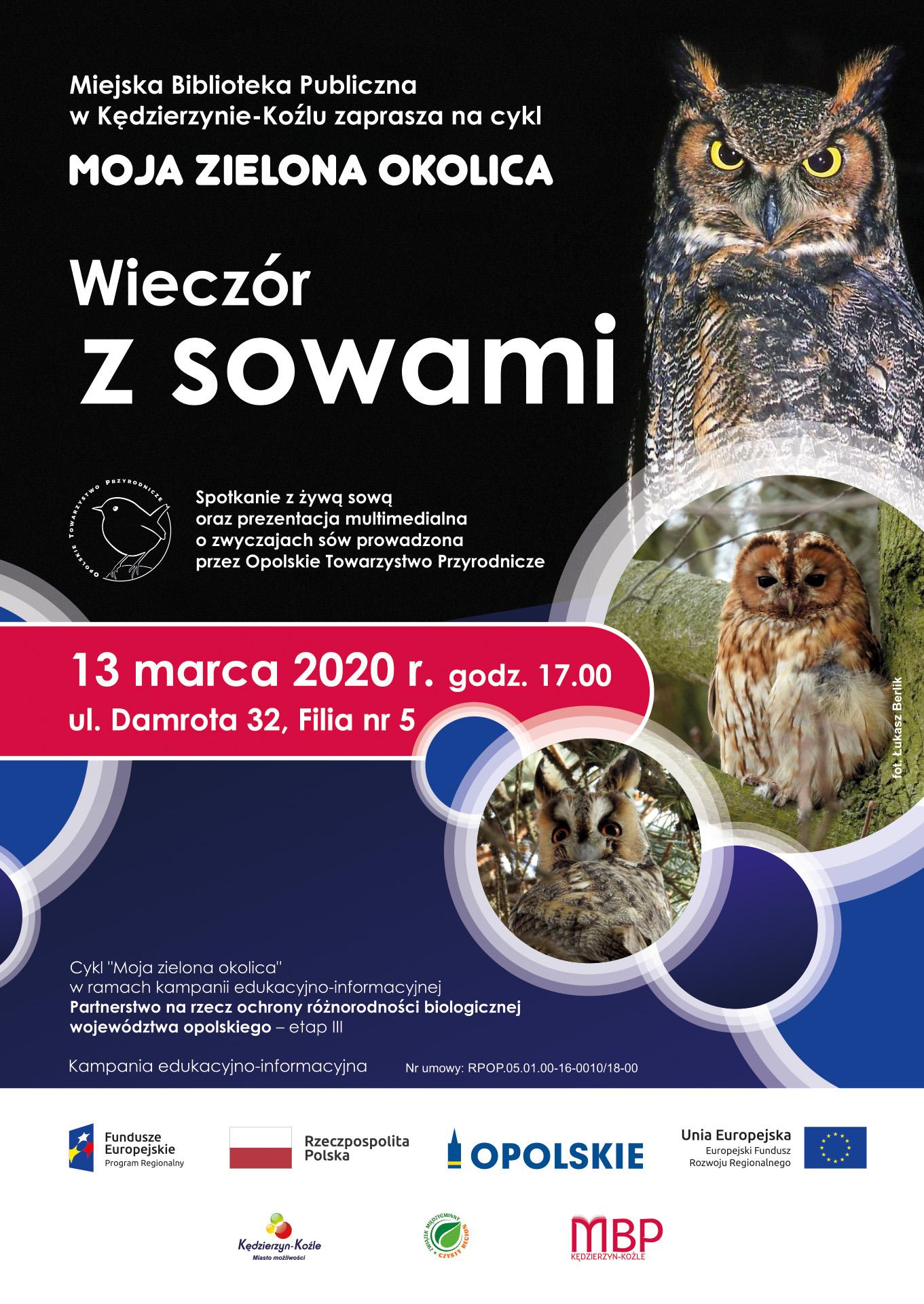 Spotkanie z żywą sową/sowami