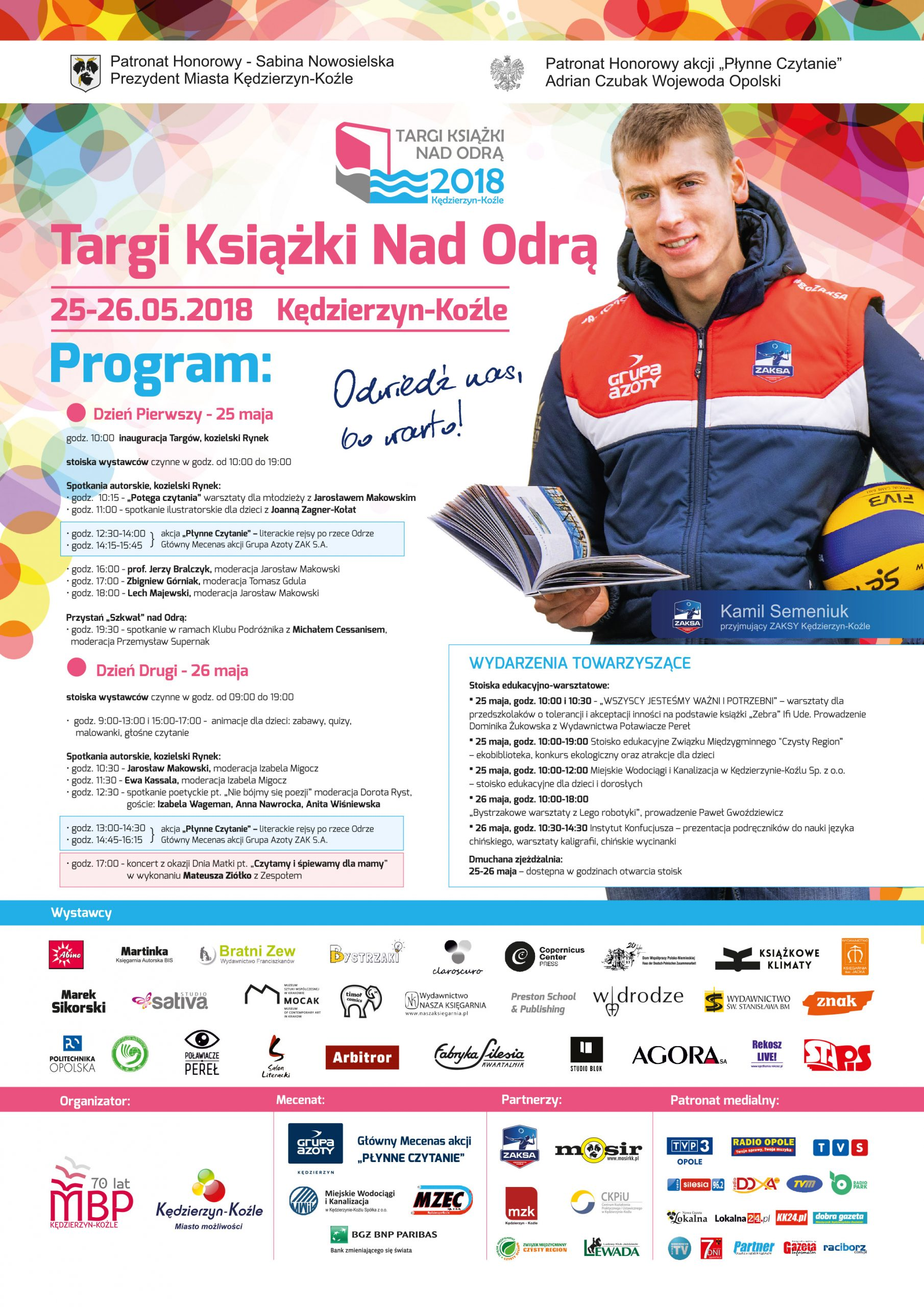 Targi Książki Nad Odrą 2018 - program Plakat