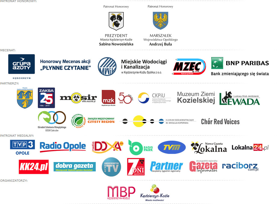 Targi Książki nad Odrą 2019 logotypy