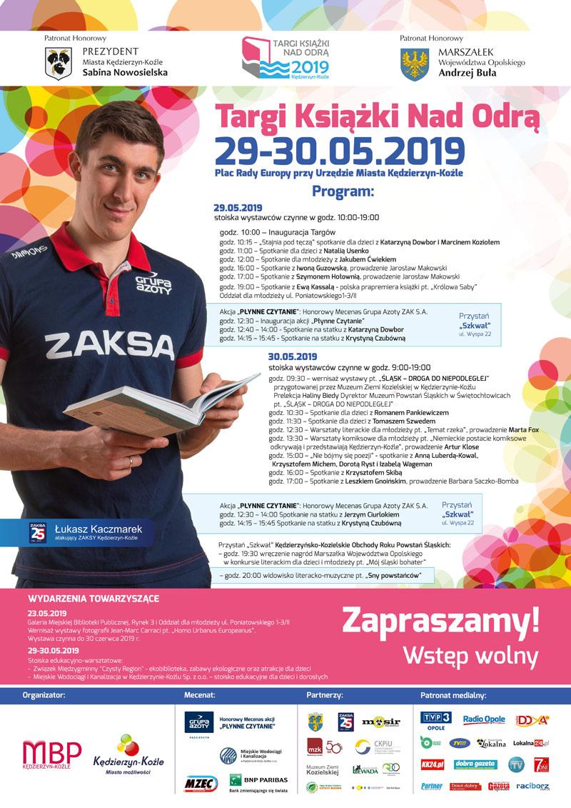 Targi Książki nad Odrą 2019 - Program plakat