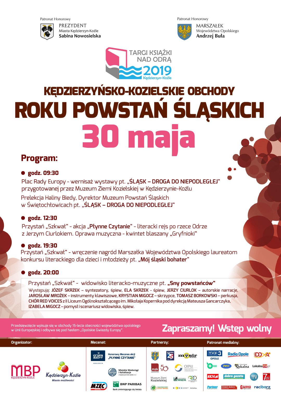 Kędzierzyńsko-Kozielskie Obchody Roku Powstań Śląskich Plakat