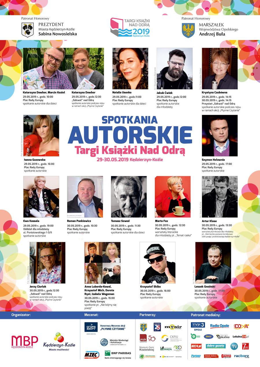 Targi Książki nad Odrą - Spotkania autorskie Plakat