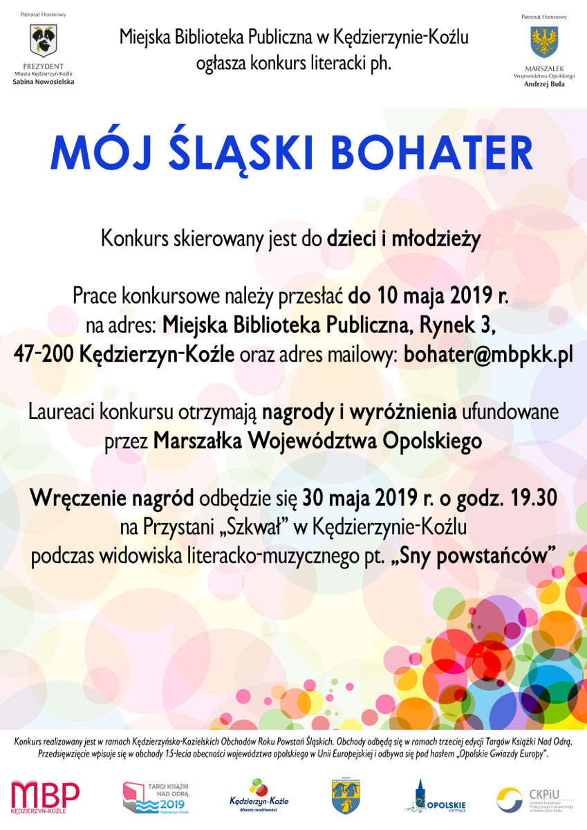 """""""Mój śląski bohater"""" - ogłoszenie wyników konkursu plakat"""