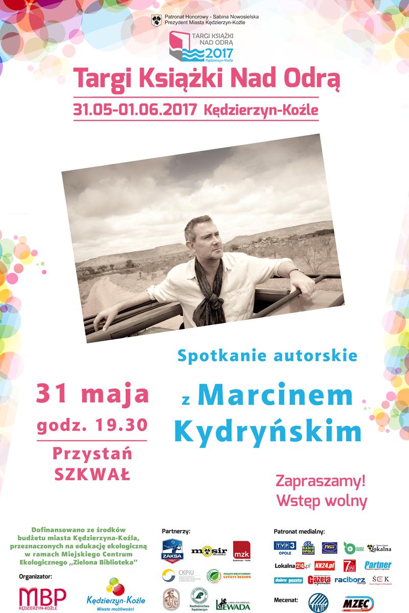 Spotkanie autorskie z Marcinem Kydryńskim w ramach Targów Książki nad Odrą Plakat
