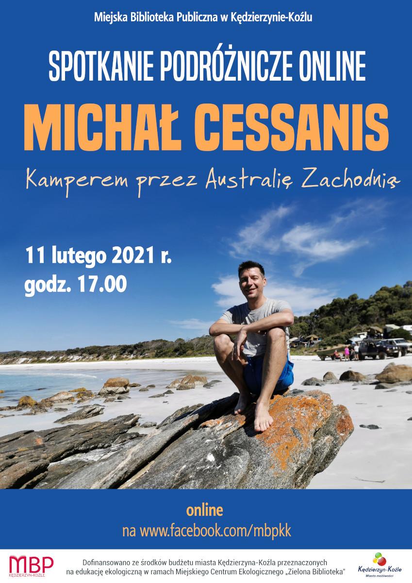 Plakat na spotkanie z Michałem Cessanisem