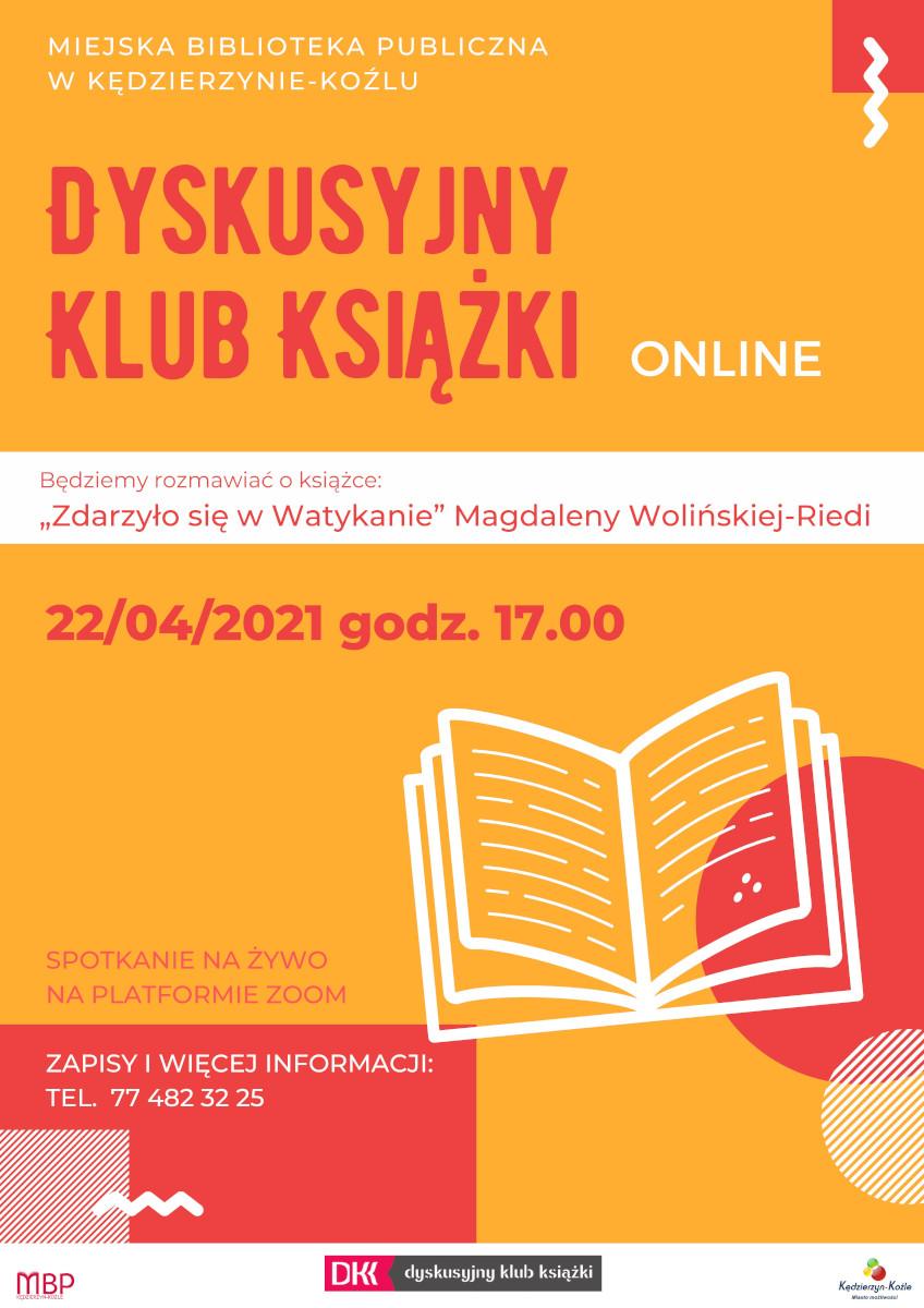 plakat - Dyskusyjny Klub Książki