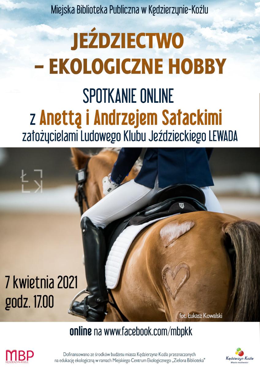 plakat - jeździectwo ekologiczne hobby