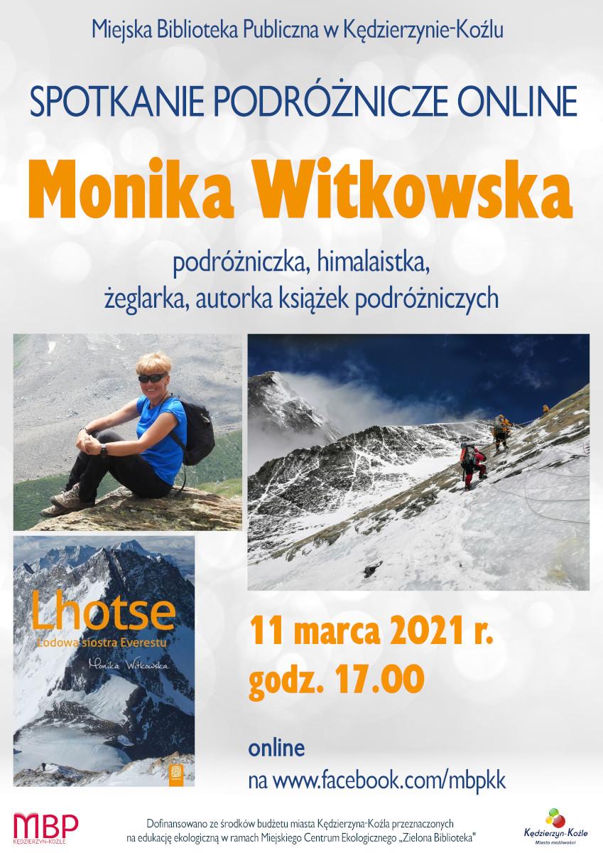 plakat na spotkanie z Moniką Witkowską