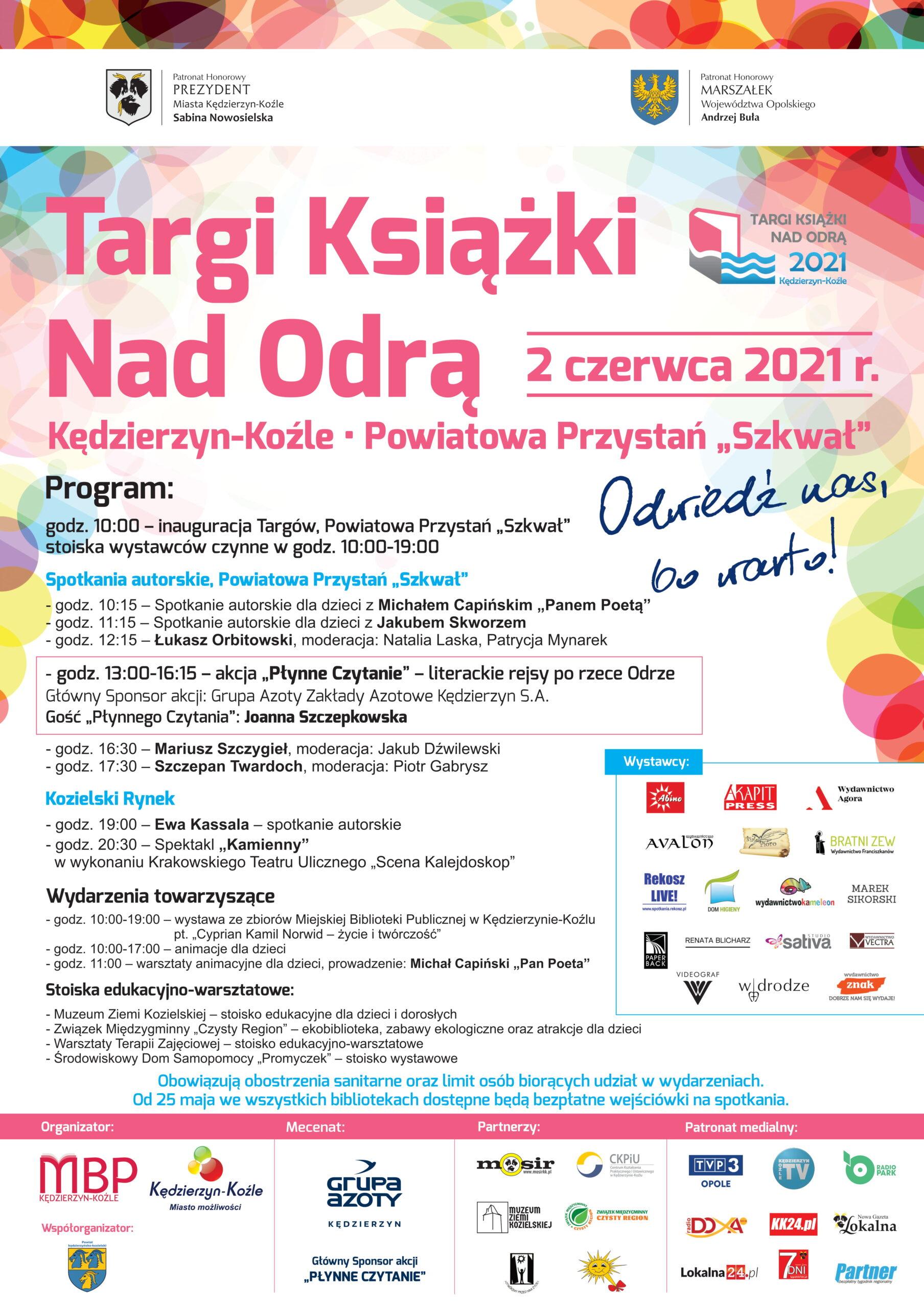 Targi Książki Nad Odrą 2021. Program